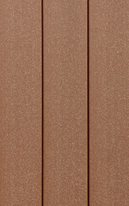 DuxxBak Decking boards showing Mahogany traction finish.