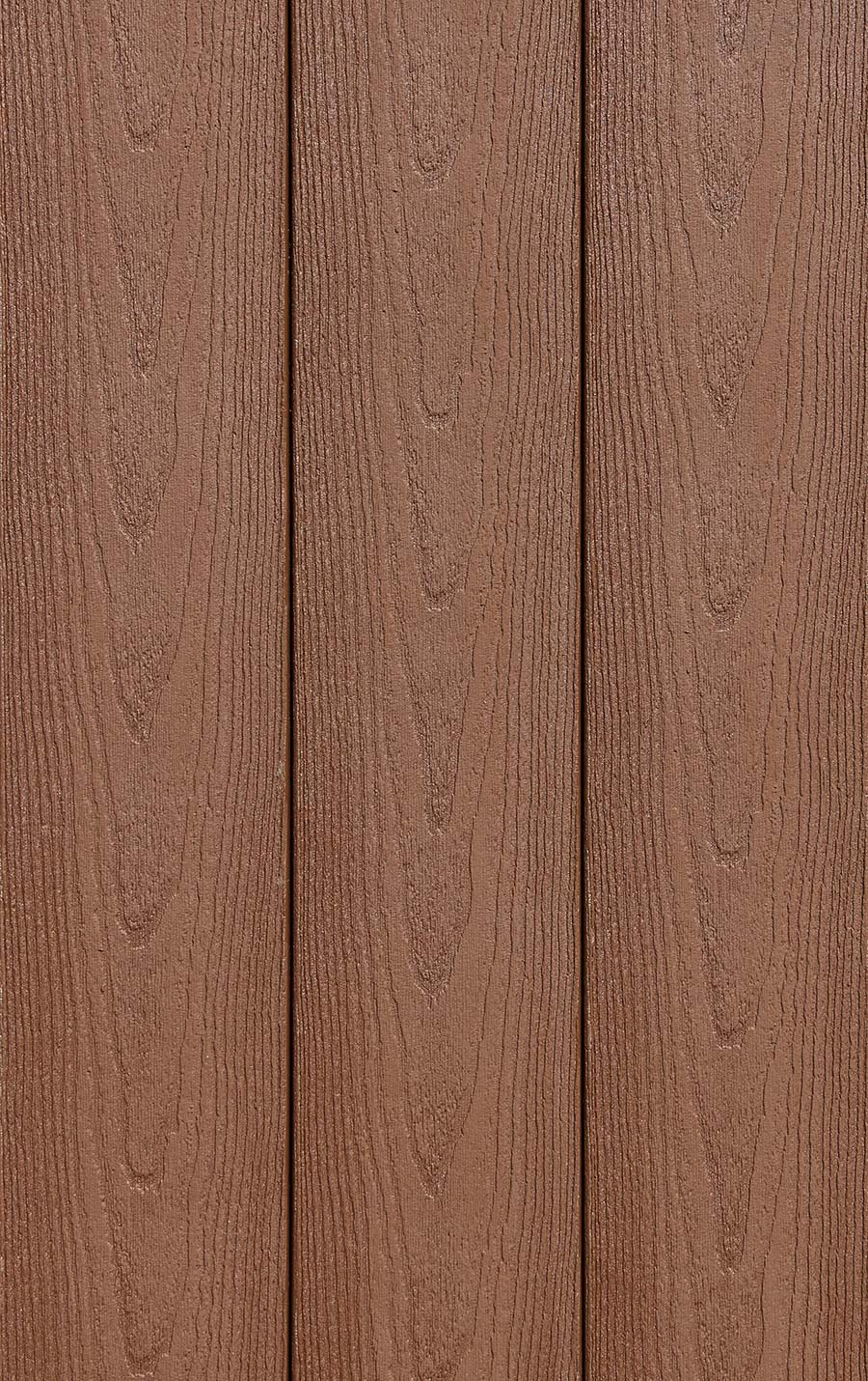 Image of composite decking color Tanned Leather for DuxxBak Decking in an armor cap finish.